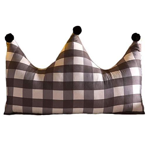 Almohada Lectura Corona Cabecera del amortiguador cama de princesa del viento lavable almohada trasera grande Sofá Cama de la almohadilla amortiguador trasero (Entramado) Cojín con Forma de Cu