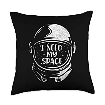 Awesome Space Gifts & Astronaut Apparel Funny Quote Astronaut Clothing - I Need More Space Throw Pillow 18x18 Multicolor