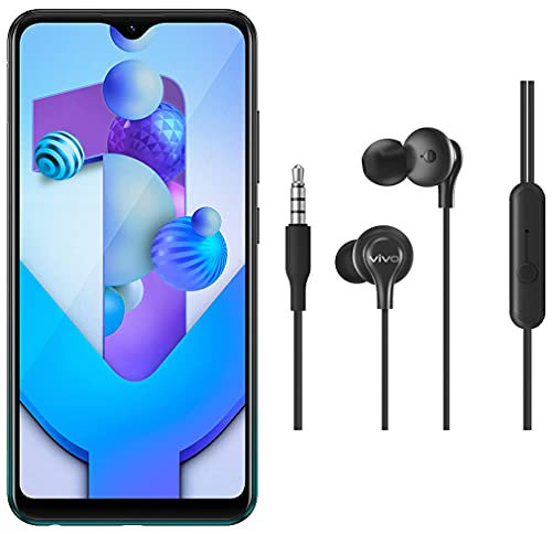 Vivo Y1s (Olive Black, 3GB RAM, 32GB Storage) with No Cost EMI/Additional Exchange Offers + vivo Color Wired Earphones with Mic and 3.5mm Jack (Black)