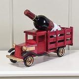 XKWJC Exquisit und lustig XLCMXCreative Weinregal Massivholz Klassisches Auto-Modell Rack-Wein Wohnzimmer Home Decoration Dekorative Rahmengestell, 38 × 12 × 30cm Weinregal