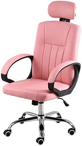 GAOLILI Sedia da Ufficio Sedia da Ufficio, scrivania da Tavolo Sedia Girevole con Angolo di inclinazione Regolabile per Comfort ed elerbonomico Design (Color : Pink)