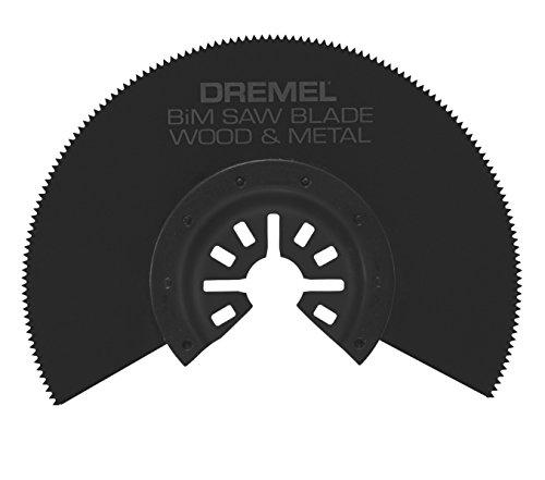 Dremel MM452 Multi-Max Bi-Metal (BiM) Half Moon Oscillating Saw Blade- Oscillating Tool Accessory- Perfect for Cutting Wood and Metal- Universal Quick-Fit System