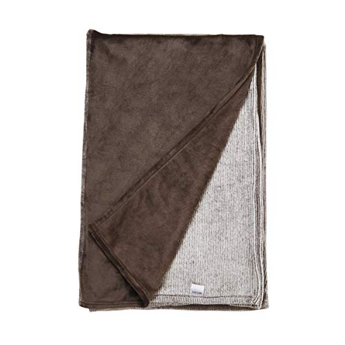Butlers LOFT - Decke Streifen 150x200 cm - Kuscheldecke in Braun - auch als Sofadecke, Schlafdecke oder Tagesdecke geeignet