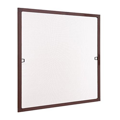 Ventanara Insektenschutz Fliegengitter Fenster Spannrahmen Braun RAL 8017 100 x 130 cm