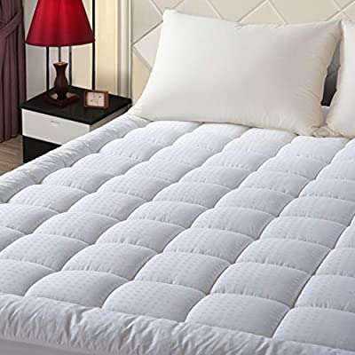 EASELAND Pillow Top Mattress Pad Deep Pocket Mattress Topper