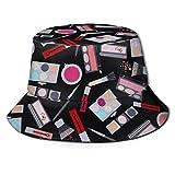 NCH UWDF Set de Maquillaje Sombrero de Cubo Unisex Sombrero de Pescador Reversible Sombreros de Sol de Golf de Playa de Viaje Informal empaquetables