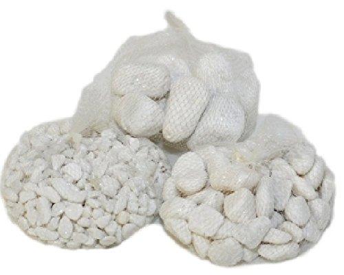 Sables et Pierres Naturelles Pierres de rivière Blancs en diverses mesures 1 kg (Petits)