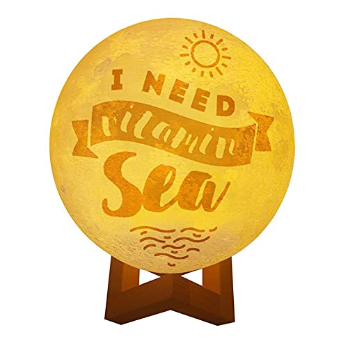 DKISEE Nieuwigheid Drie Kleur Lunar Lamp Ik Moet Vitamine Zee Cool Nachtlampje Gift Voor Liefhebber Kinderen Ouder Vriend 15 cmx15 cm