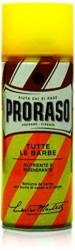 Proraso Yellow Tutte Le Barbe Nutriente E Rigenerante Rasierschaum, 1er Pack (1 x 400 ml)