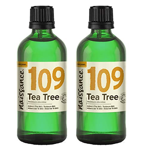 Naissance Aceite Esencial de Árbol de Té BIO n. º 109 – 200ml (2x100ml) - 100% Puro, vegano, certificado ecológico y no OGM