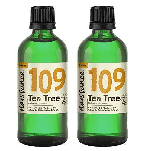 Naissance Aceite Esencial de Árbol de Te BIO n. º 109 – 200ml (2x100ml) - 100% Puro, vegano, certificado ecologico y no OGM
