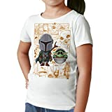 Camiseta Niña - Unisex Serie, Star Wars Baby Yoda y Mandalorian (Blanco, 9 años)