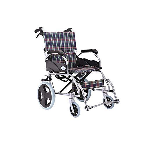 Transportrollstühle Luxus Selbstfahrer Rollstuhl Aluminium ultra Leichtklapp - Anti-Rutsch-Griff - Pedalwinkel kann in drei Stufen eingestellt werden