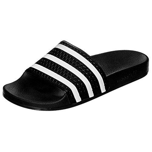 adidas ADILETTE, Ciabatte Unisex – Adulto, Core black/white/core black, 37 EU