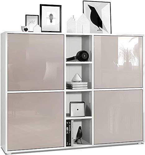 Kompaktes Hoch Meter hohe Schrank 3 quadratisches Design mit hohem Lichtfrontgitter 12 mit LED-Beleuchtung,F
