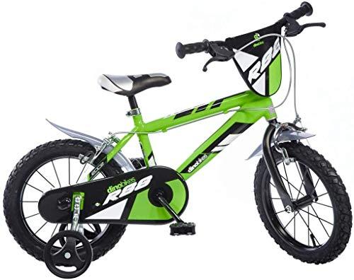 Cicli Puzone Bici 16 Bimbo Verde Fluo Dino Bikes 416 U