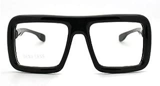 Thick Square Glasses Clear Lens Eyeglasses Frame Super Oversized Fashion