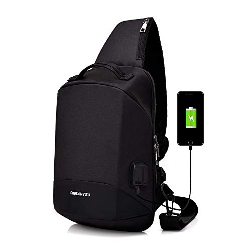TADQ Trekking Backpack - Sac à Dos imperméable à l'extérieur, Sac à Dos de Voyage de Sports à la Mode décontractée avec Interface de Chargement USB (Color : A)