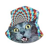 怖い猫 アイスシルク 首カバー ネックウォーマー 暖かいスカーフ 多機能 顔保護 子供たち 防寒 呼吸しやすい ブレイサー
