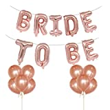 Tumao 16 Zoll Bride to BE Rosa Folienballons Luftballons , 12 Zoll Rose Gold Luftballons Latex...