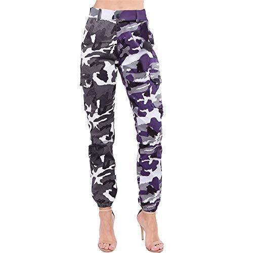FRAUIT dames sportbroek jeanbroek herfst- en wintercamouflage broek-casual broek turnzaal joggen, fitness, training, dansen mode elegante streetwear pants
