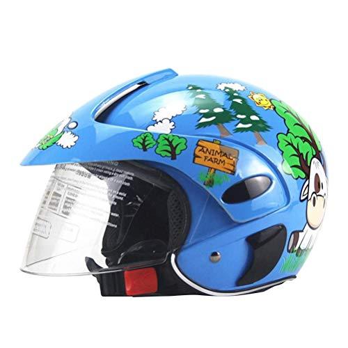Yeyll Casco de bicicleta para niños, casco de moto para niños, casco de motocicleta para niños, medio casco de motocicleta, casco de seguridad ligero para niños de 3 a 8 años