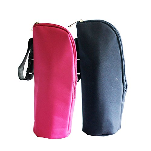 Little Sporter Lot de 2 sacs de conservation pour biberons - Pour bébé - Pour la marche - Rouge et bleu