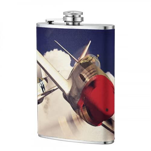 Frasco de viaje de 8 oz modelo 3d de avión en vuelo Frasco de 8 oz frasco para hombres mujeres regalos de licor para hombres para viajes senderismo Camping