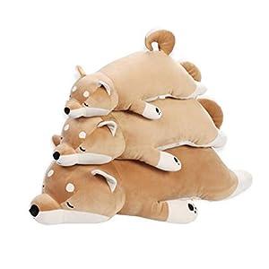 イヌぬいぐるみ 犬 巨大 抱き枕 縫い包み 大きい 可愛い動物 添い寝枕 特大 ふわふわ お人形 女の子 ネムネム プレゼント 置物 店飾り 柴犬 ブラウン トイ インテリア おもちゃ 100cm