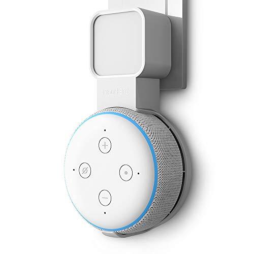 P5+ Halterung Wandhalterung Ständer für Dot (3. Gen.), Eine Platzsparende Lösung für Smart Home Lautsprecher, Speaker Zubehör Halterung mit Kabelanordnung, Keine Unordentlichen Drähte (Weiß)