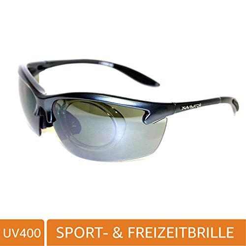 NAVIGATOR SPIDER Sport- u. Freizeitbrille, mit Einsatzrahmen für optische Linsen auch geeignet als Fahrrad- Ski- und Motorradbrille, mit UV400 Standard (Sonnenbrille) auch super als Laufsport/Laufbrille