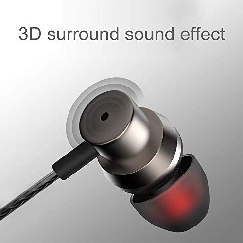 JUKSTG Earphones Noise Isolating in-Ear Headphones with Pure Sound and Powerful Bass with High Sensitivity Microphone and Volume Control
