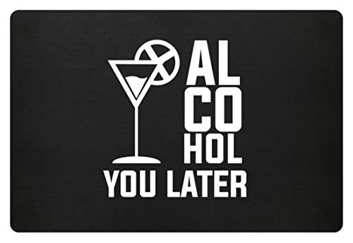 Generieke Alcohol You Later See You Later Ophalen Black Drinks Spirituos Bier Shirt - Voetmat