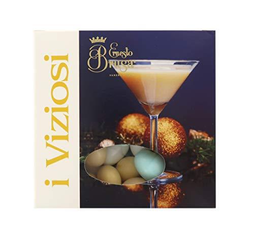 Ernesto Brusa Confetti con Mandorla tostata ricoperta di Cioccolato Bianco ai Gusti di Bevande alcoliche assortite, Colori Vari - Linea I Viziosi - 500 g