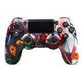 Hppbody Mando para PS4, Joystick Inalámbrico para PS4, Controlador con Vibración Doble 600mAh / 6-Ejes / Puerto de Audio Remoto / Panel Táctil, Mando Bluetooth para Playstation 4 / Pro / Slim