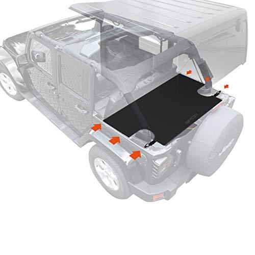 GPCA Cargo Cover LITE PLUS for Wrangler JK 4DR Sport/ Sahara/ Rubicon/ Freedom Unlimited 2007-2018 models (UPGRADED)
