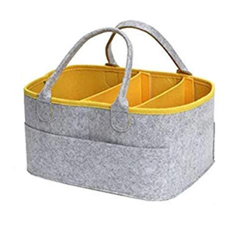 U/A Especificación: 33 x 23 x 18,5 cm bolsa de almacenamiento bolsa de pañales plegable cesta de almacenamiento portátil