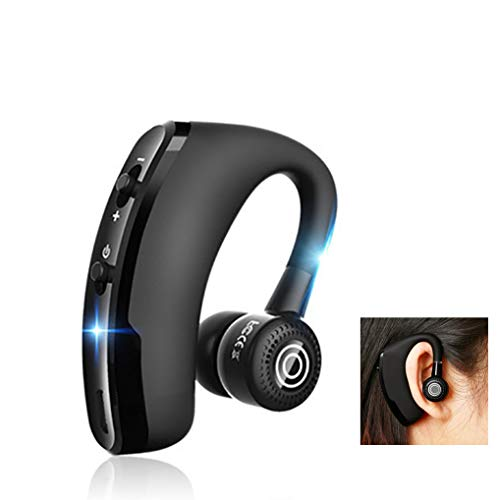 HZJ Bluetooth Phone Headsets, Bluetooth-Headset Mit 10H Talking Time and More 20 Tage, Für LKW-Fahrer Computer Büro Call Center Skype