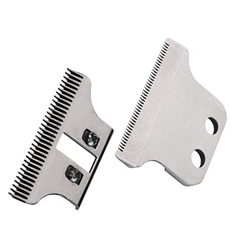 T-Wide Cuchillas Cortapelos #2215–#1062-60, Designed for Specific Wahl Clippers, 5 Star Series and Sterling Trimmers, Screws and Instructions Included (Plateado)