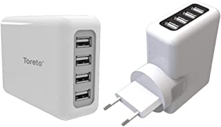 TORETO TRAVEL CHARGER WITH 4 PORTS