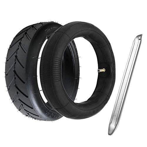 Neumático de Scooter eléctrico 8 1 / 2X2 Neumático Exterior Tina Interior Juego de neumáticos Delanteros Traseros Compatible con neumáticos Antideslizantes M365 con Palanca Durable y Resistente