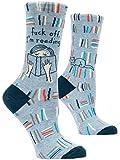 Blue Q Women's Crew Socks ~ Fuck Off, I'm Reading. (fit shoe size 5-10)