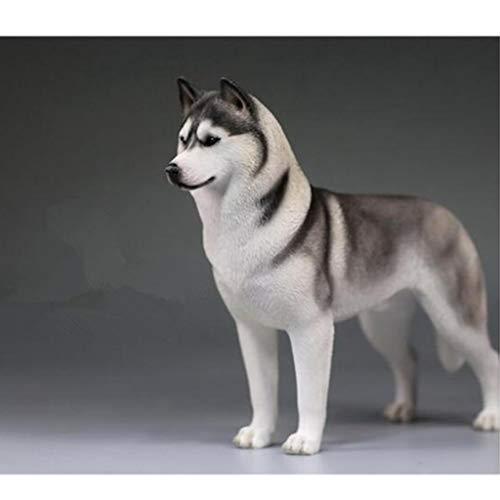 LIAOLEI10 Escultura Husky Siberiano Simulación Animales Decimosexto Perro Decoración del hogar Modelo...