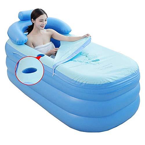 De viaje plegable inflable for adultos Bañera de cuerpo completo for adultos aislamiento térmico desmontable de bañera de la tina