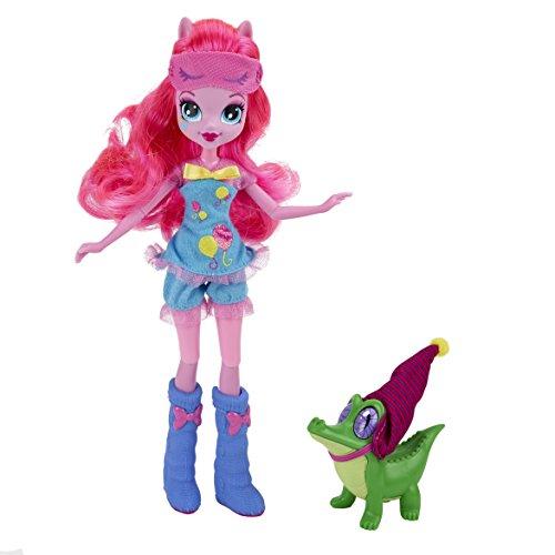My Little Pony : Equestria Girls – Soirée Pyjama – Pinkie Pie & Gummy Snap – Poupée 23 cm + Animal