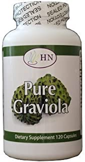 Fresh Health Nutrition's Graviola 1000 Mg Serving Capsules Bottle, 120 Count