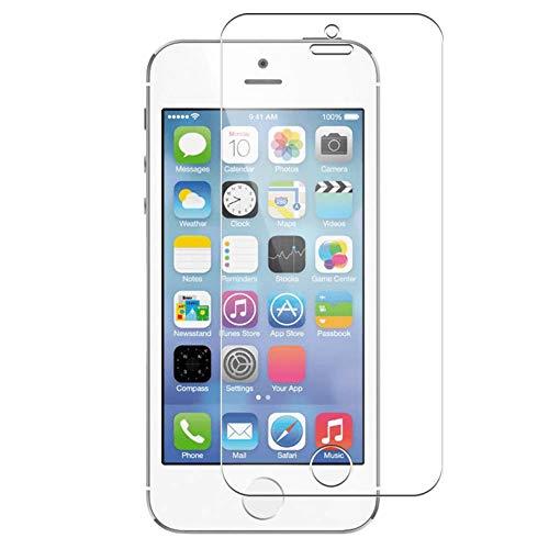 Vaxson 4 Unidades Protector de Pantalla, compatible con Apple iphone 5 / 5s / 5c / SE [No Vidrio Templado] TPU Película Protectora