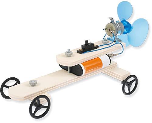 matches21 Propellerfahrzeug Auto Fahrzeug mit Propellerantrieb Bausatz f. Kinder Lehrmittel Werkset Bastelset ab 11 Jahren