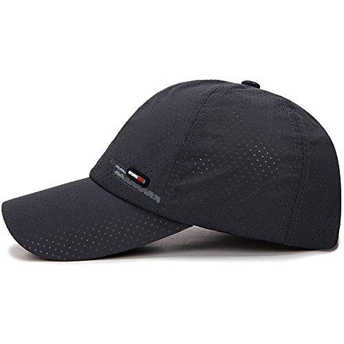 MERICAL Gorra de béisbol Sombreros de Moda para Hombres Casquette para Elegir Utdoor Golf Sun Hat(Gris Oscuro)