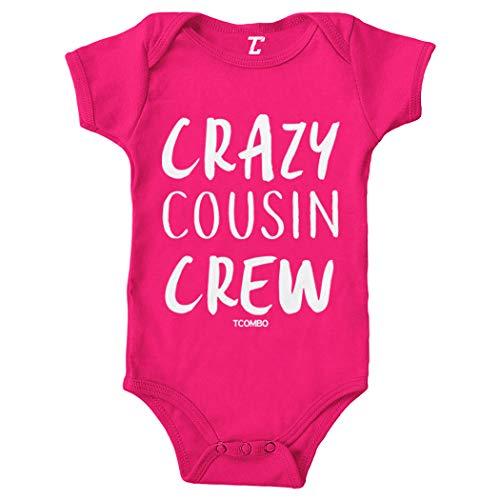 Crazy Cousin Crew - Cute Funny Bodysuit (Pink, Newborn)